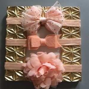 Other - (3) piece baby girl toddler headband